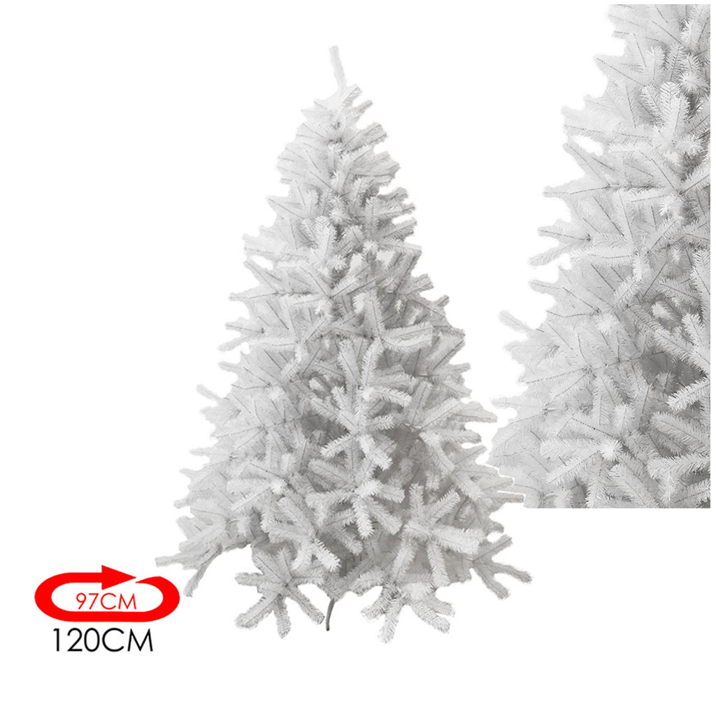 Foto Alberi Di Natale Bianchi albero di natale bianco 120 cm - Ø 97 cm