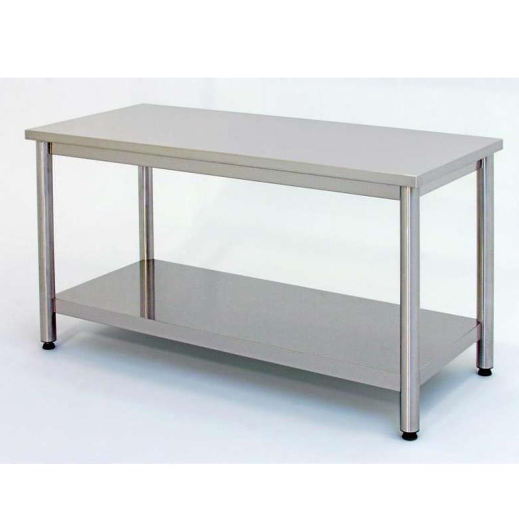 Bendoni inox tavolo in acciaio inox con sottopiano - Divano profondo 60 cm ...