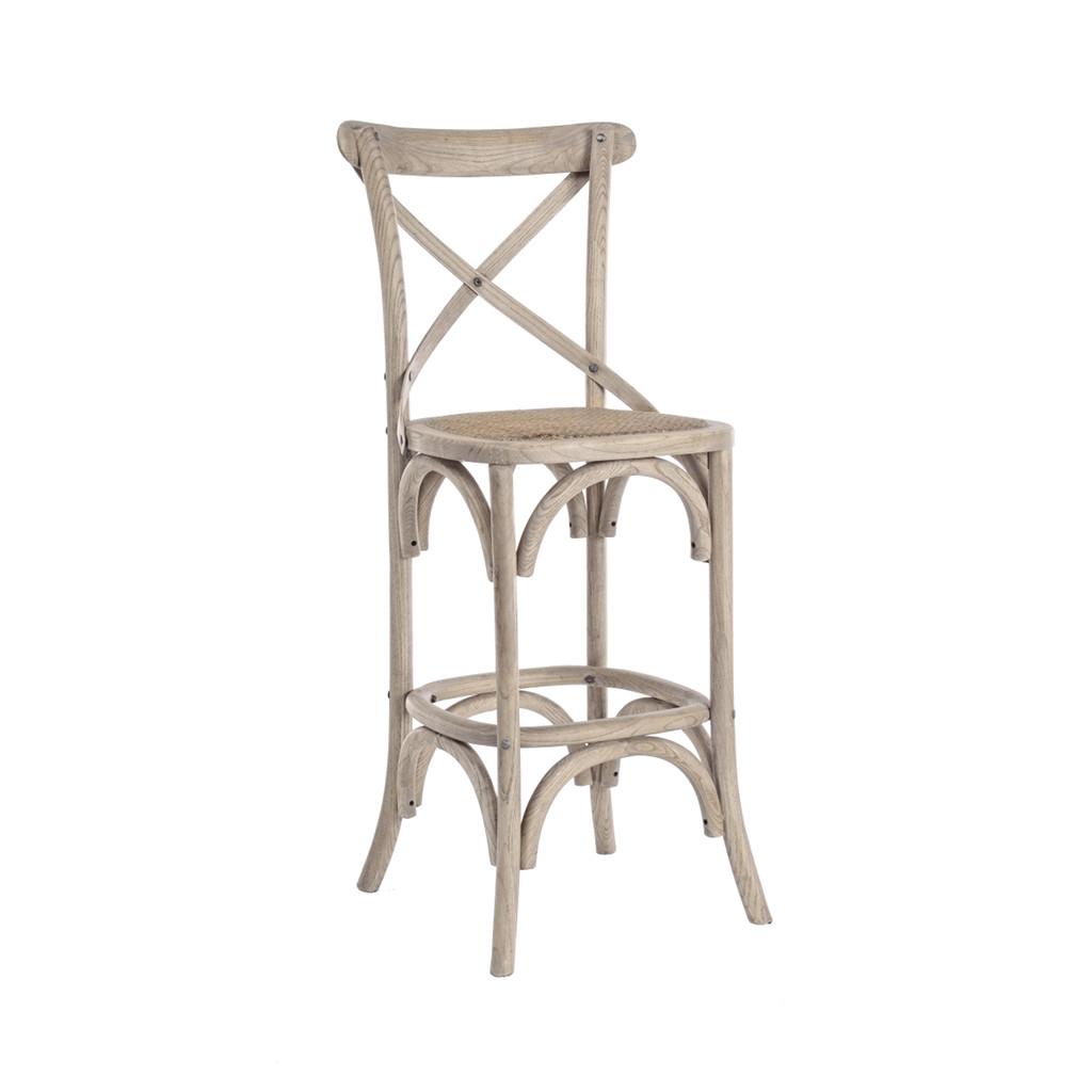Bizzotto sgabello cross con struttura in legno d 39 olmo cod for Bizzotto arredamenti