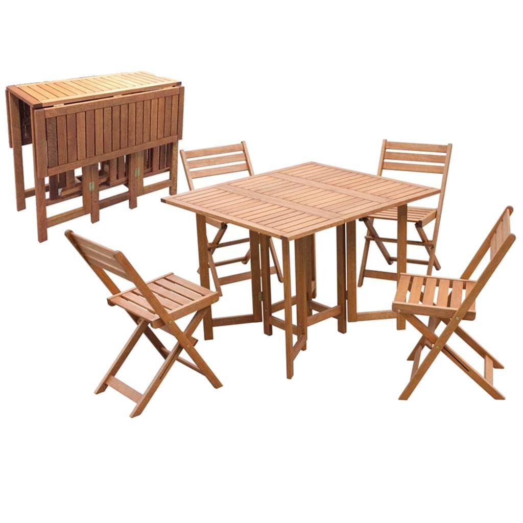 Emporio grassi set pieghevole tavolo rettangolare con 4 for Set tavolo sedie