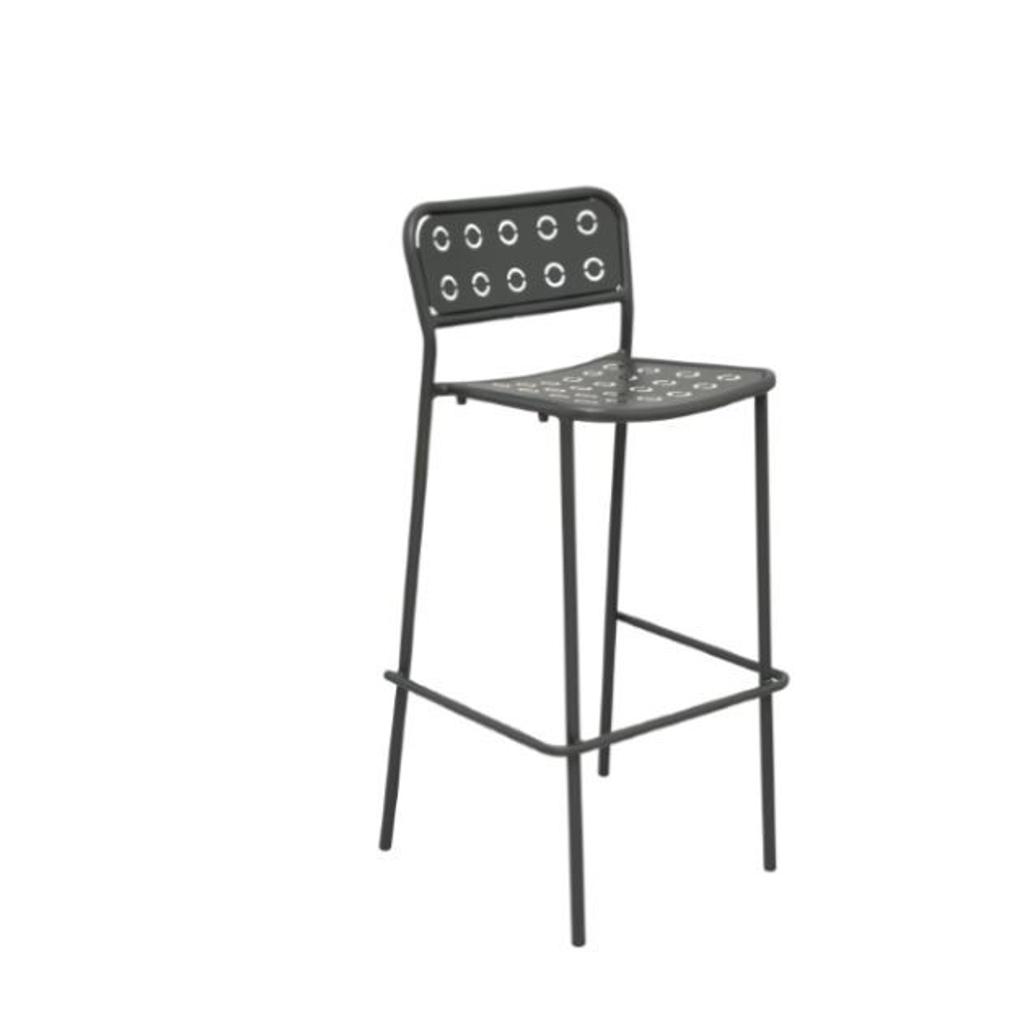 Rd italia sgabello impilabile pop 75 in acciaio per bar e for Arredi esterni per bar e ristoranti